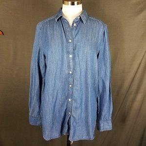 4/10- LOFT Medium Blouse softened shirt